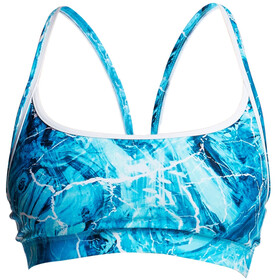 Funkita Sports Top Bikini Donna blu/turchese